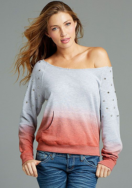 Dip Dye Studded at Alloy