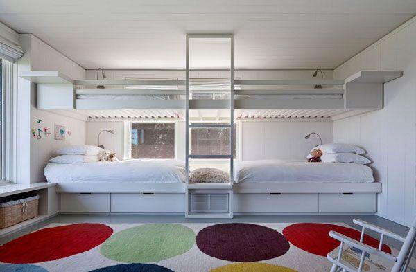 Etagenbett Für Zwillinge : Kinderzimmer mit hochbett coole platzsparende wohnideen