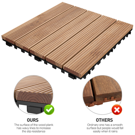 12 X 12 27 Pcs Patio Pavers Interlocking Wood Tiles Wood Flooring Tiles Indoor Outdoor For Patio Garden Deck Poolside Walmart Com In 2020 Paver Patio Outdoor Patio Decor Wood Tile
