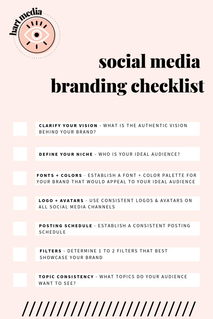 Social Media Branding Checklist Branding Checklist Social Media Marketing Business Social Media Marketing Plan