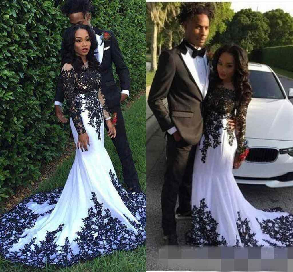 Couple Fashion Black Girl Prom Dresses