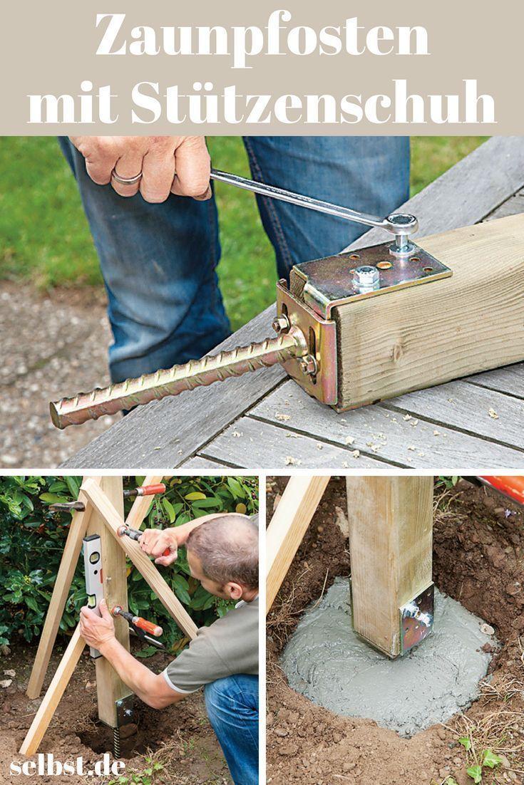 Zaunpfosten Einbetonieren Einbetonieren Learning Zaunpfosten Gartenarbeit In 2020 Concrete Fence Posts Concrete Fence Fence Post