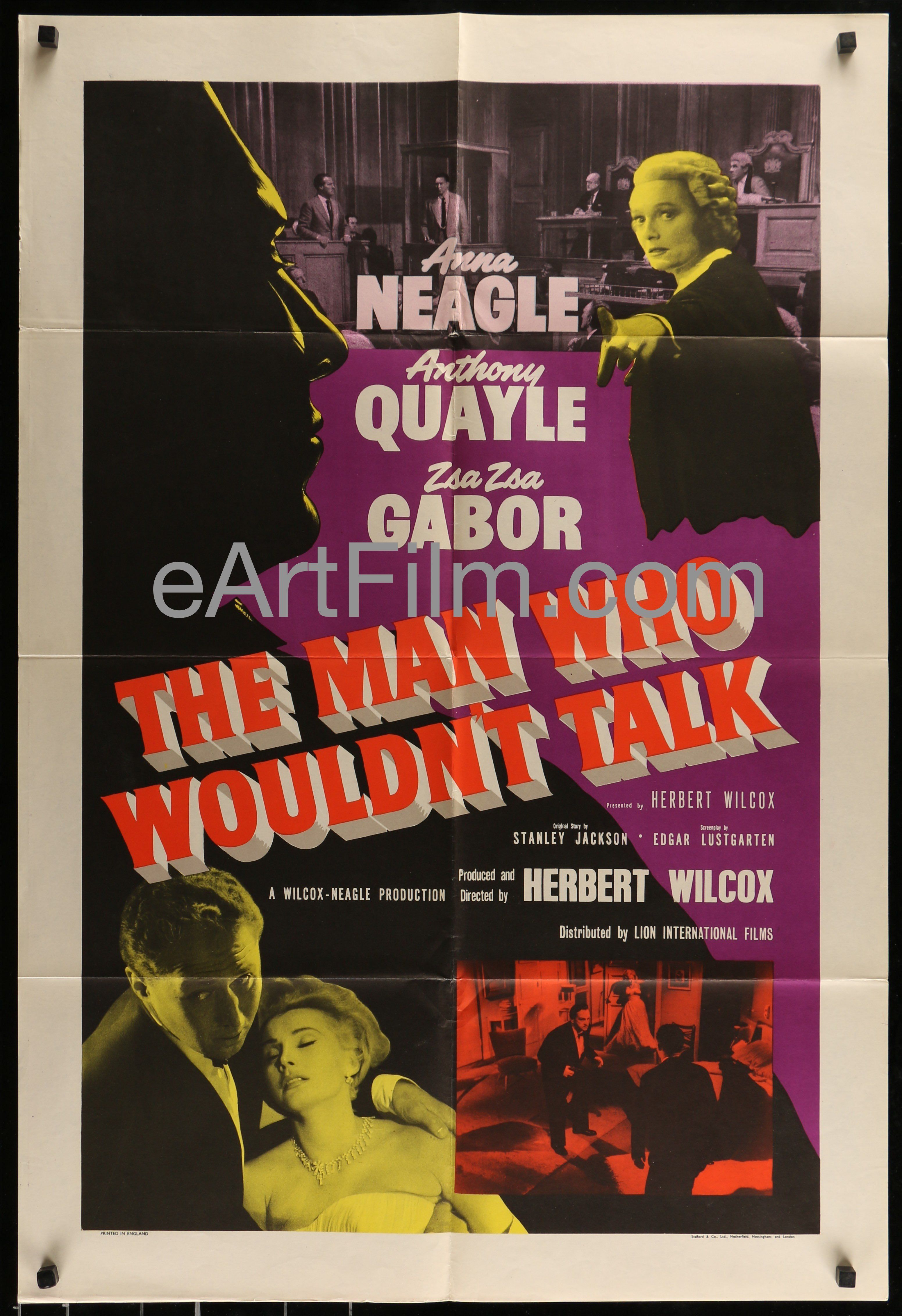 Man Who Wouldn\'t Talk-Zsa Zsa Gabor-Anna Neagle-Anthony Quayle-27x40 ...