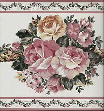 Rose Wallpaper Border Ebay Rose Wallpaper Pink Rose Wallpaper Border Wallpaper Border