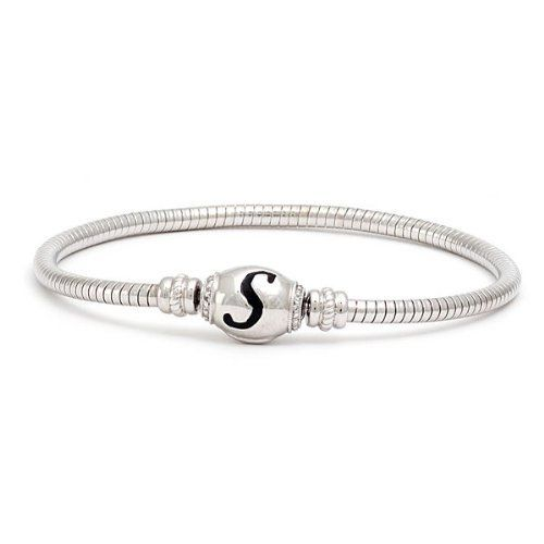 """Silver Diamond Initial Letter """"S"""" Bracelet CoolStyles. $97.50. Save 35%!"""