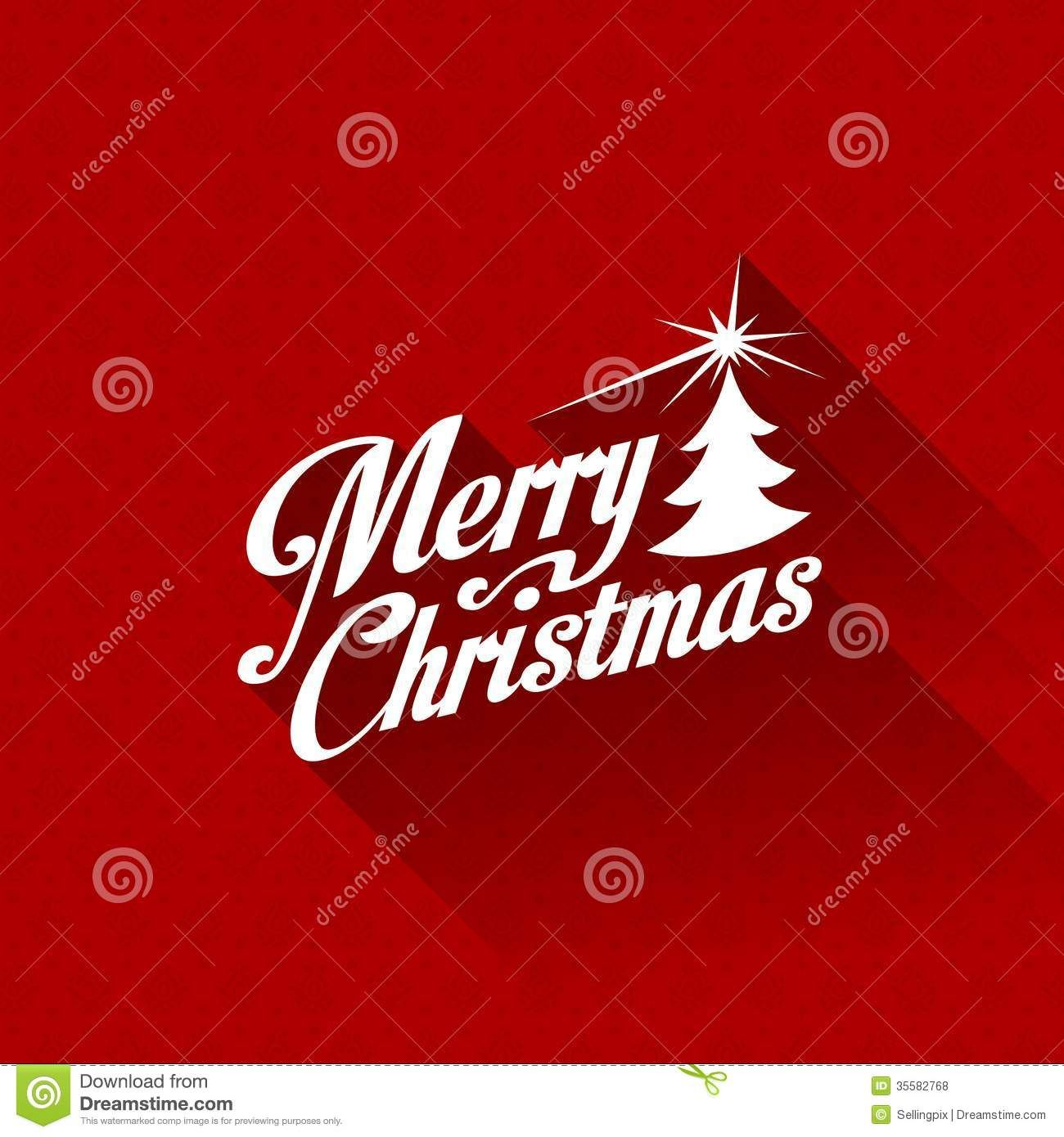 Merry Christmas Greeting Card Vector Design Templa Download From