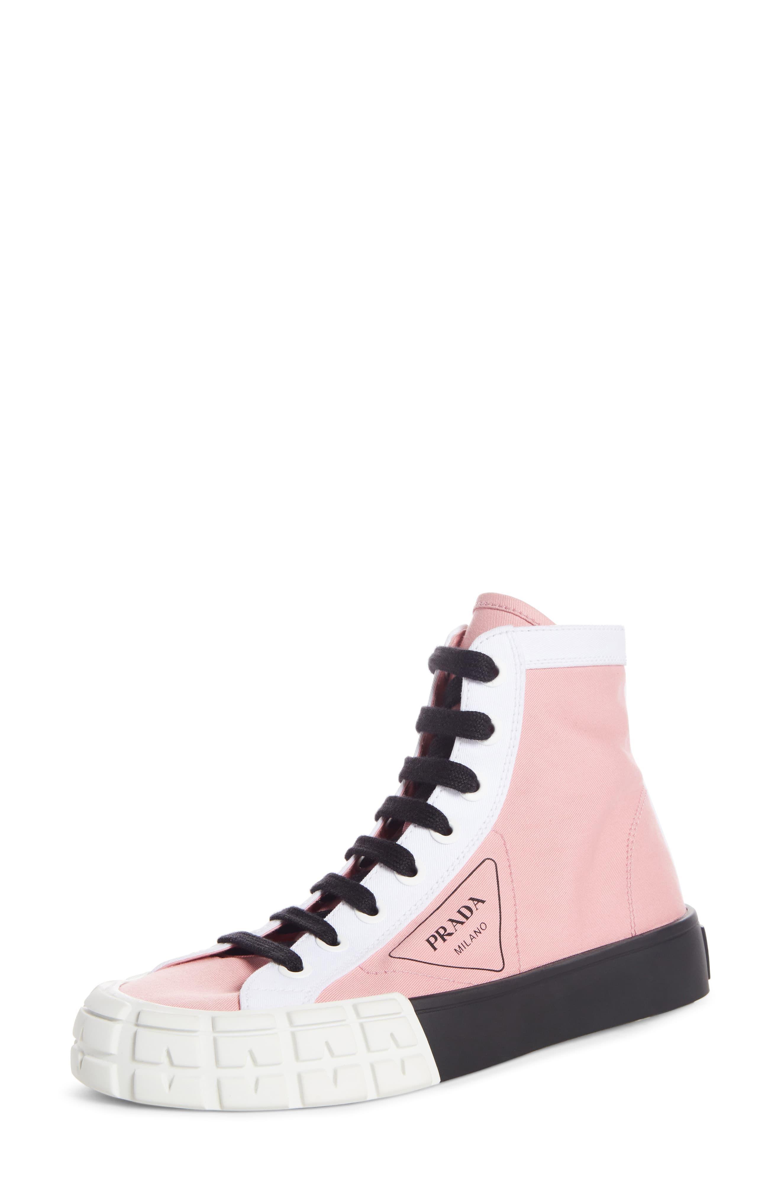 Prada Logo High Top Sneaker (Women