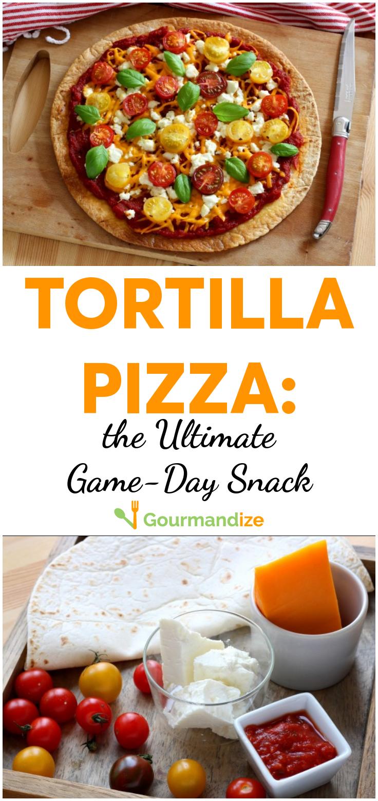 StepByStep Recipe Tortilla Pizza Low calorie