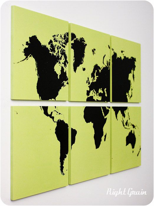 World Map Art Print - Map Artwork - Large World Map - Worldmap ...