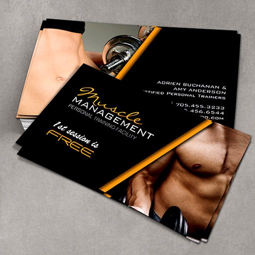 Certified Personal Trainer Business Cards | Custom Business Card ...