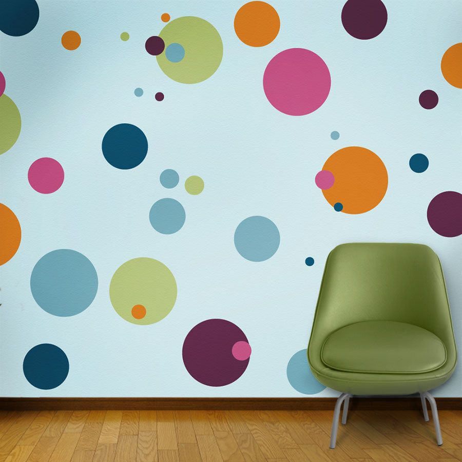 polka dot wall stencils for kids room wall mural 10 wall stencils - Design Stencils For Walls
