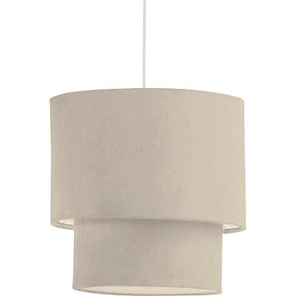 Lights · 2 tier suede ceiling shade natural 097752 homebase £5 33