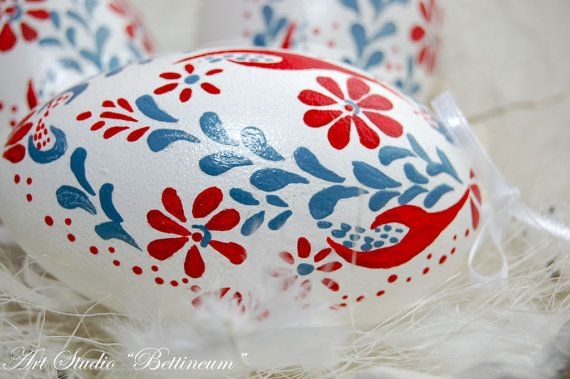 Pysanka egg with  Theme Rzeszowski   Polish easter by Bettineum, $35.00