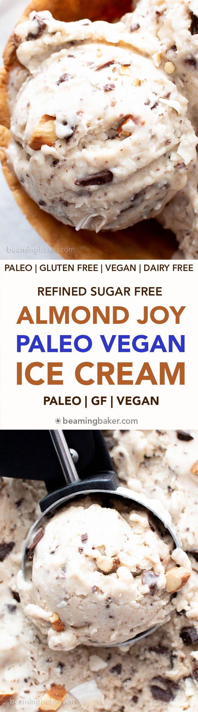 Almond Joy Vegan Paleo Ice Cream Recipe Refined Sugar Free This