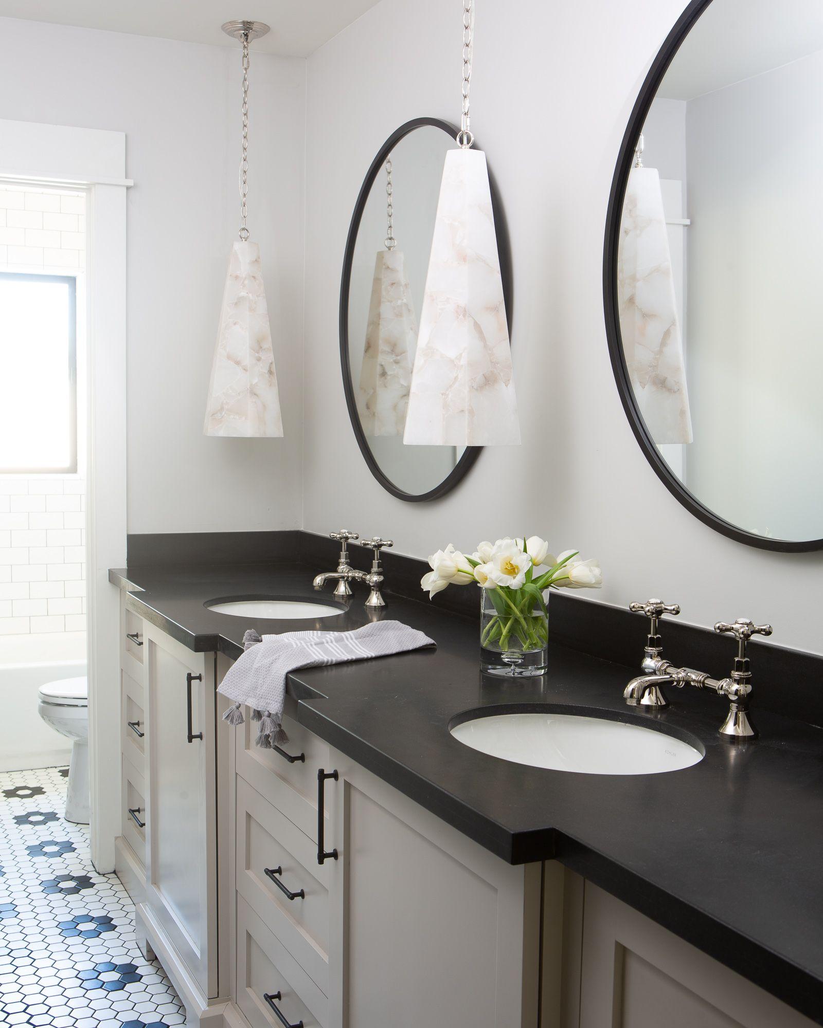 Pin By Prima Hayter On Bathrooms Black Bathroom Oval Mirror