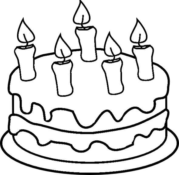 Birthday Cake Coloring Page | Click on Image to Open up ...