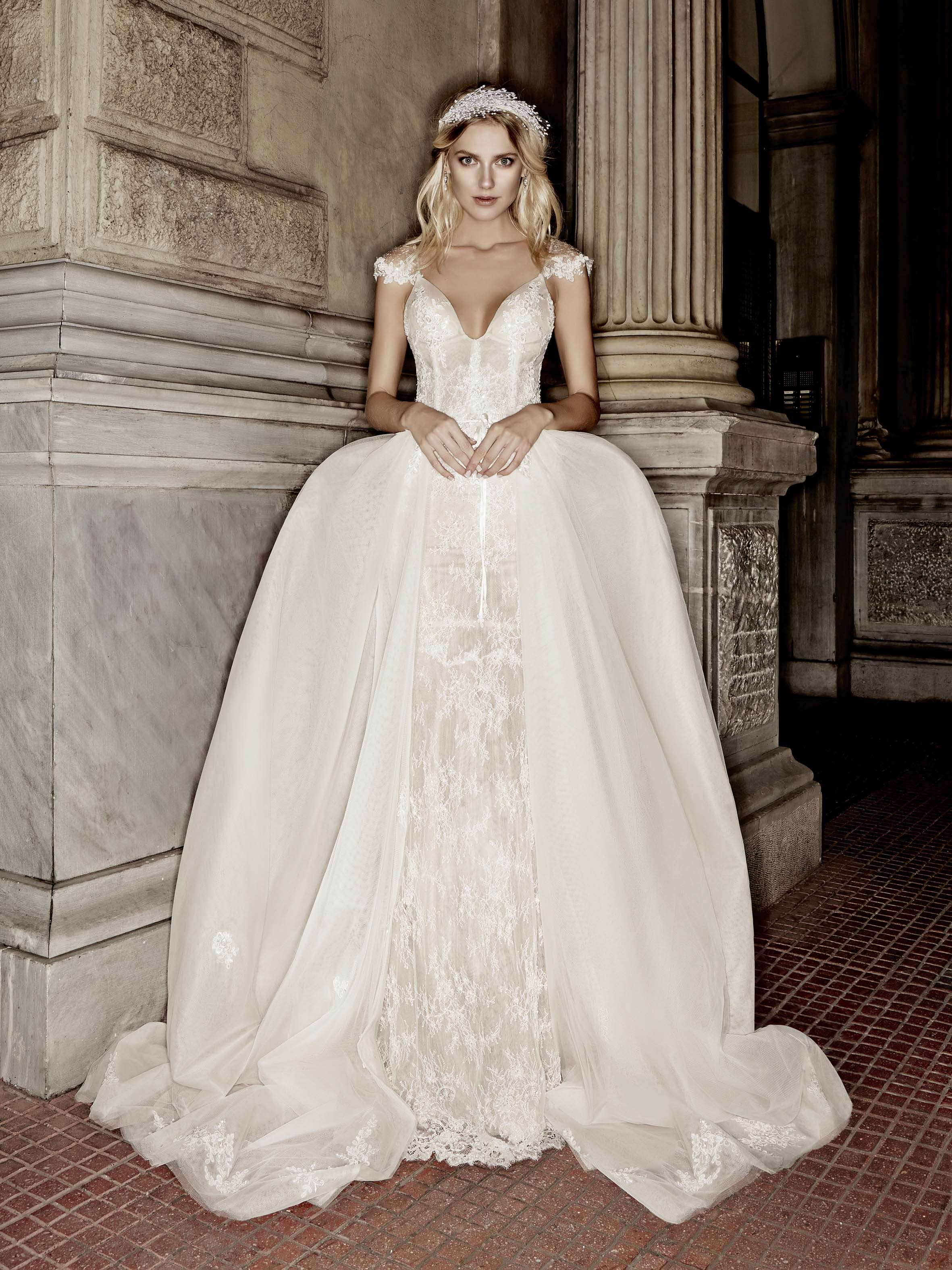 Victoria KyriaKides Bridal Collection. Model in the Elisabeth Dress ...