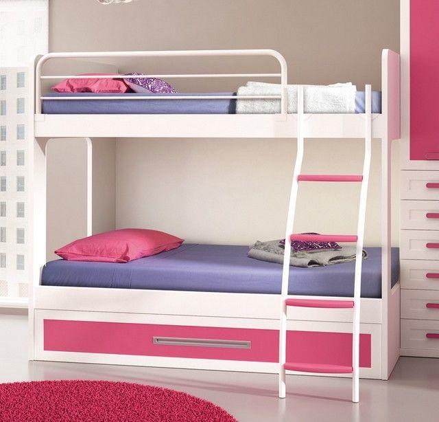 Literas para dormitorios compartidos niñas | CUARTOS PEQUEÑOS ...