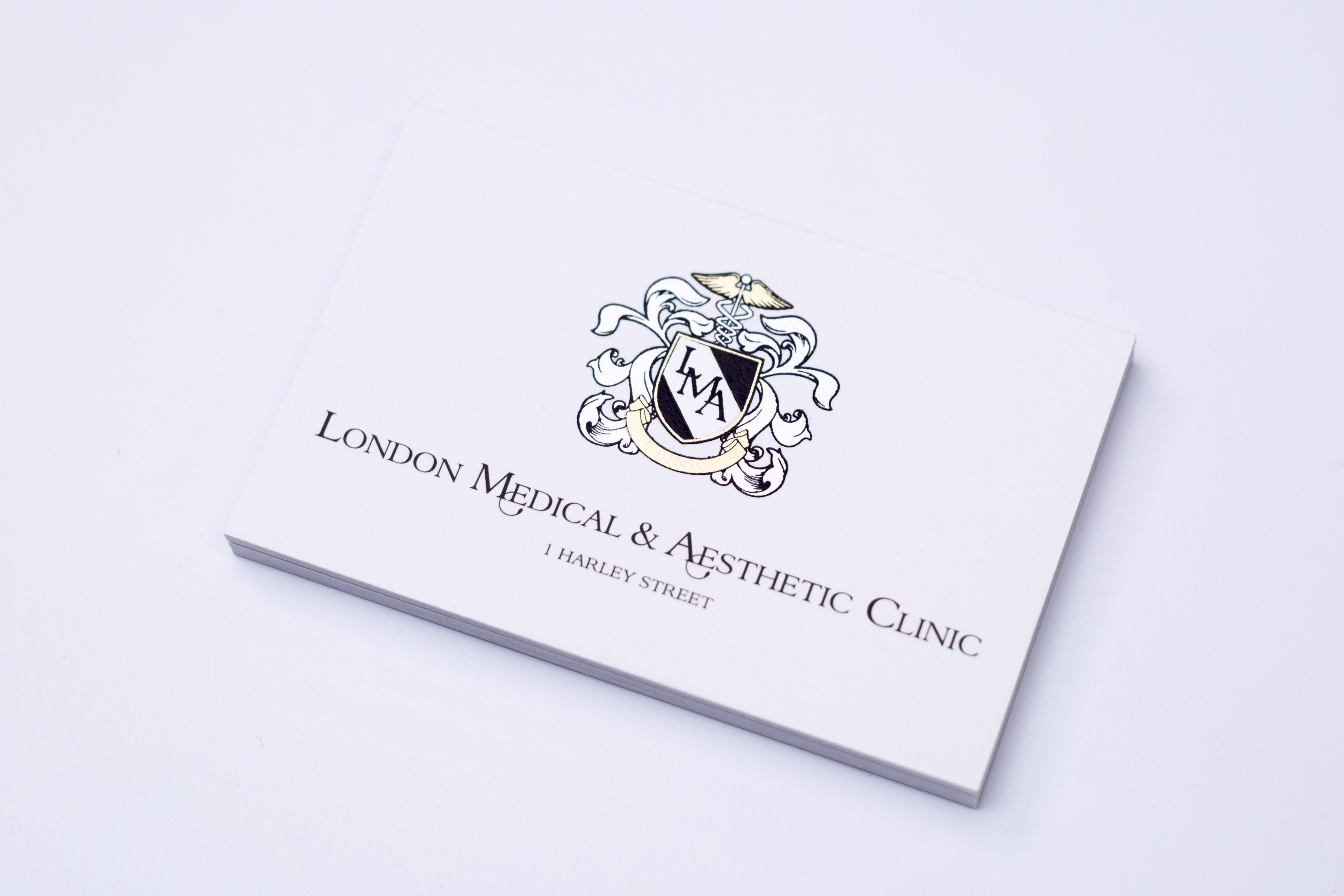 lma foiled business cards printing