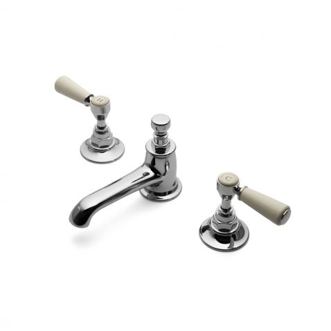Highgate Low Profile Three Hole Deck Mounted Lavatory Faucet with