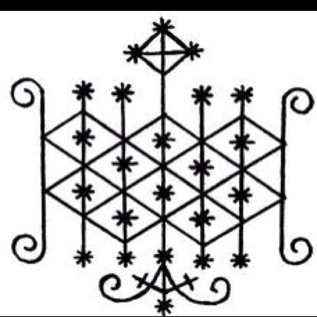 Voodoo Symbol For Ogoun Loa Of Fire Art On Skin Pinterest