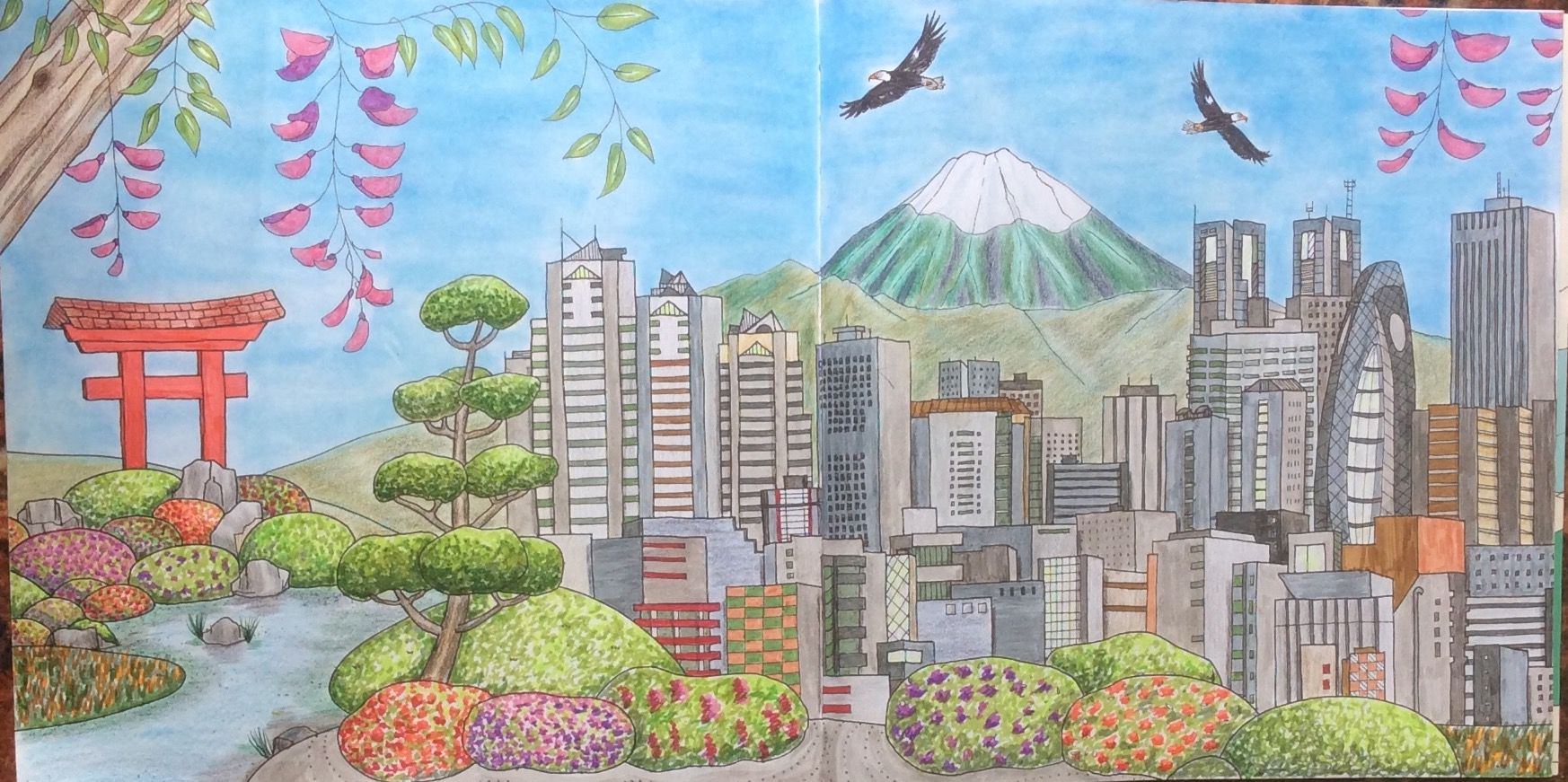 Dream Cities Colouring Book Tokyo