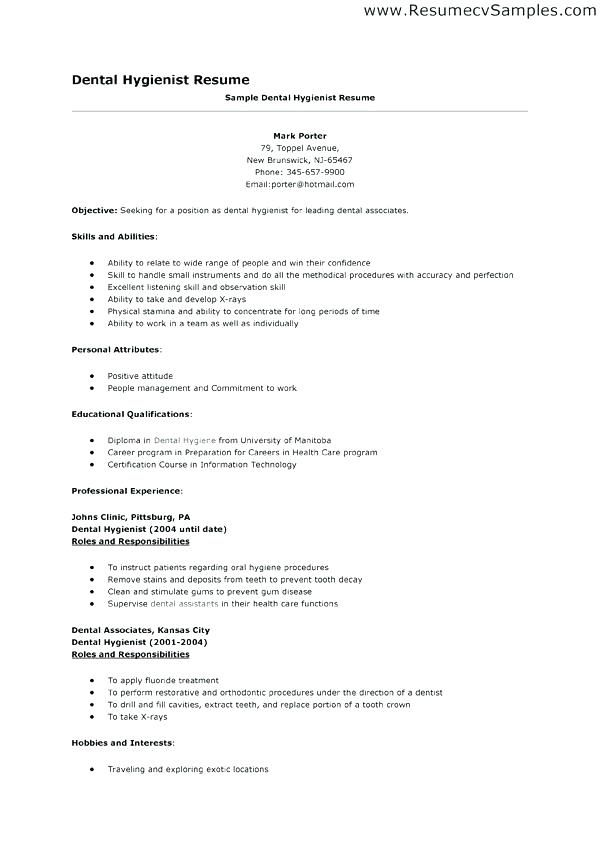 Resume Templates Dental Hygienist #dental #hygienist #resume  #ResumeTemplates #templates