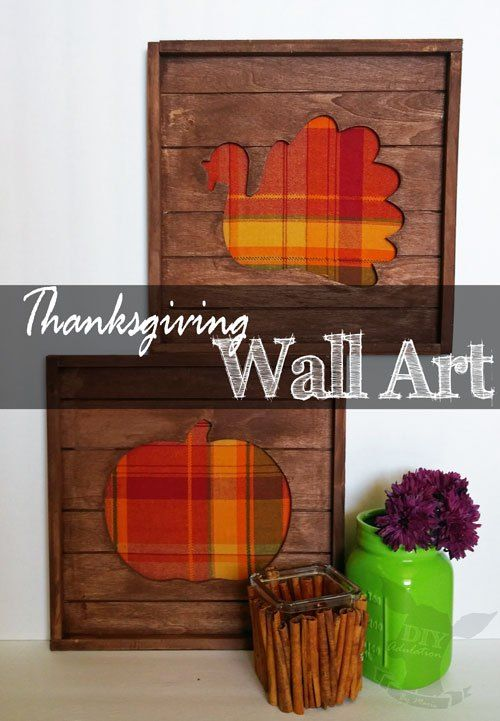 Plaid Thanksgiving Pallet Wall Art | DIY | Pinterest | Pallet wall ...