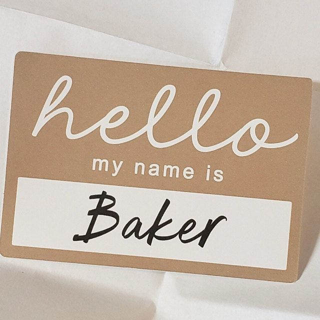 Photo of Hello My Name Is Sticker. Newborn Photo Shoot. Newborn Photos. Name Sticker. Baby Name. Baby Announcement Photo. New Baby News. Custom Baby