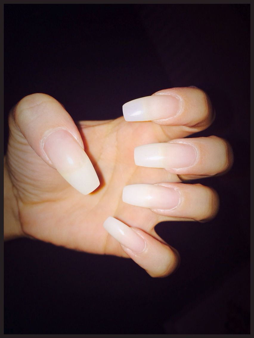 Coffin Fibreglass Nails Before Paint Fiberglass Nails Natural Acrylic Nails Coffin Nails Designs