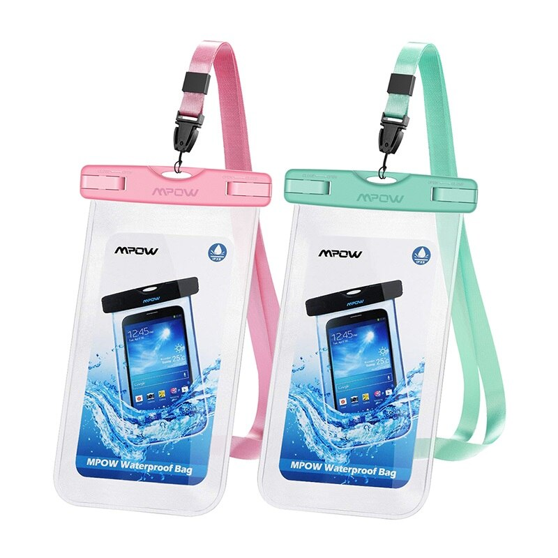 2 Pack 6 5 Inch Ipx8 Waterproof Case Universal Phone Pouch Case Bag For Iphone 7 7 Plus X Xr 6 Huawei P20 Lite For Swim In Phone Pouches From Cellphones T In