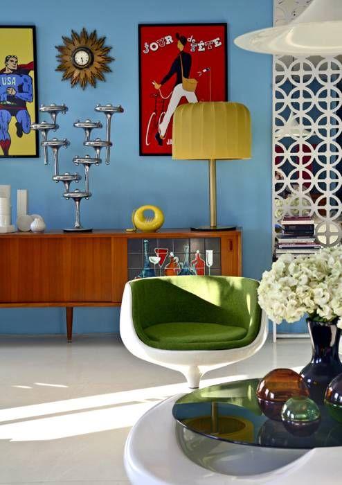 Ppige wohnzimmerdeko im retro stil wohnzimmer von baltic for Vintage einrichtung shop