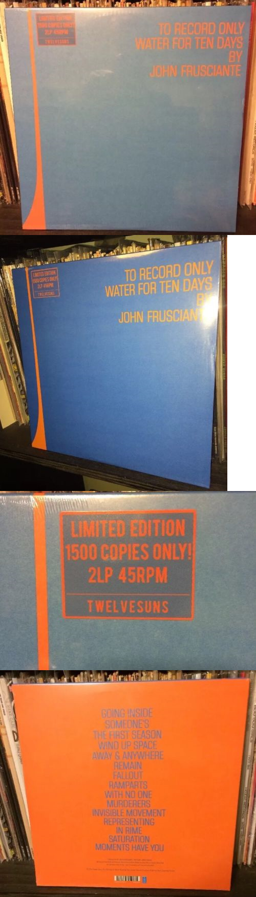 Music Albums John Frusciante To Record Only Water For Ten Days 2x Vinyl Lp 45rpm Buy It Now Only 119 99 Ohr
