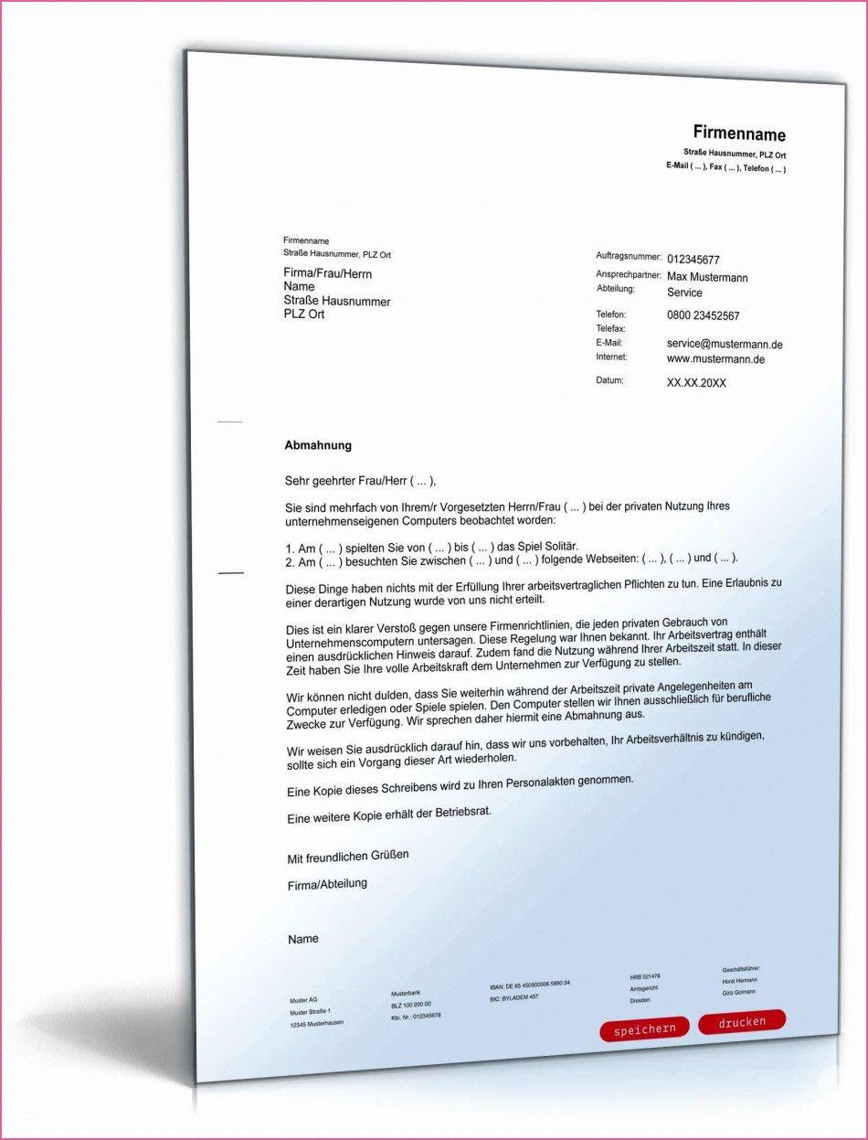 Abmahnung Wegen Nichtbefolgen Von Arbeitsanweisungen Muster In 2020 Vorlagen Word Etikettenvorlagen Rechnung Vorlage