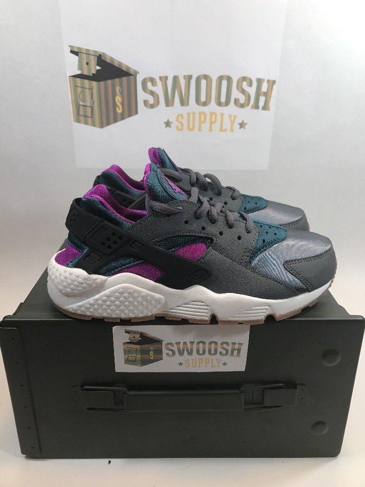 Nike Huarache Run Sz 6.5 Women's [634835 016] Gum Bottom