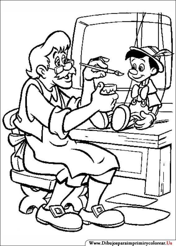 Dibujos de Pinocho para Imprimir y Colorear | imágenes para colorear ...