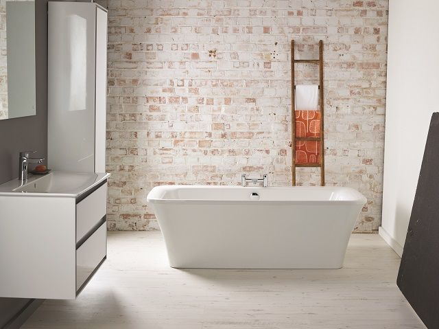 Ideal Standard bathroom featuring bath and basin