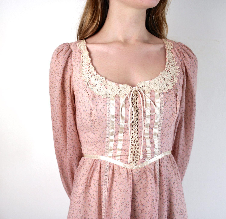 Gunne Sax Dress. $45.00, via Etsy. | vintage items | Pinterest