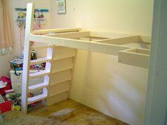 Loft Beds With Bookshelf Ladders images