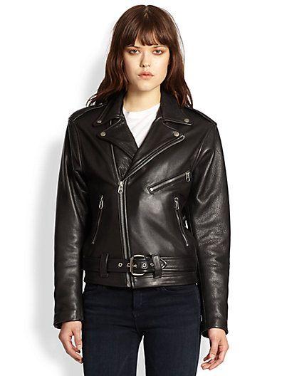 Laer Classic Moto Leather Jacket Saks Com Leather Jacket Girl Black Leather Motorcycle Jacket Leather Jacket