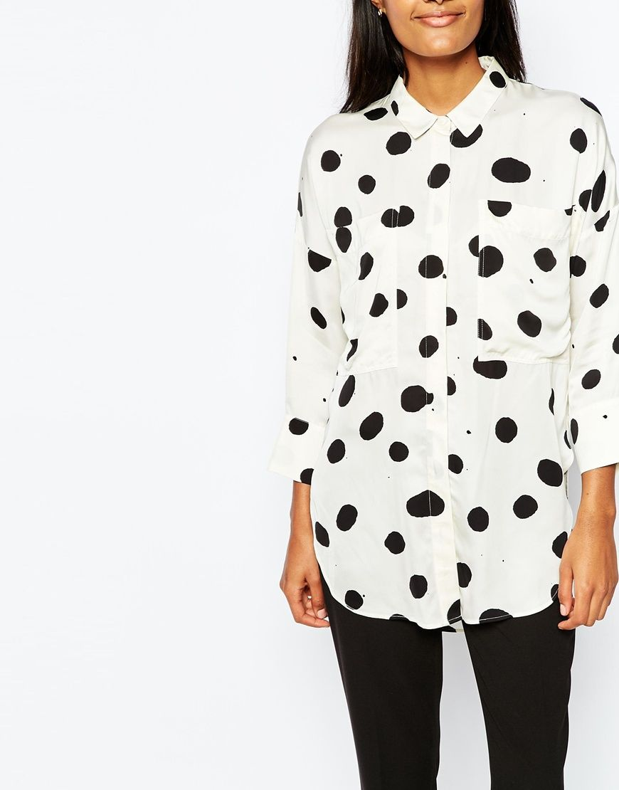 79420c06a8907c Image 3 of Whistles Spot Olivia Oversize Shirt | Clothes That Can ...