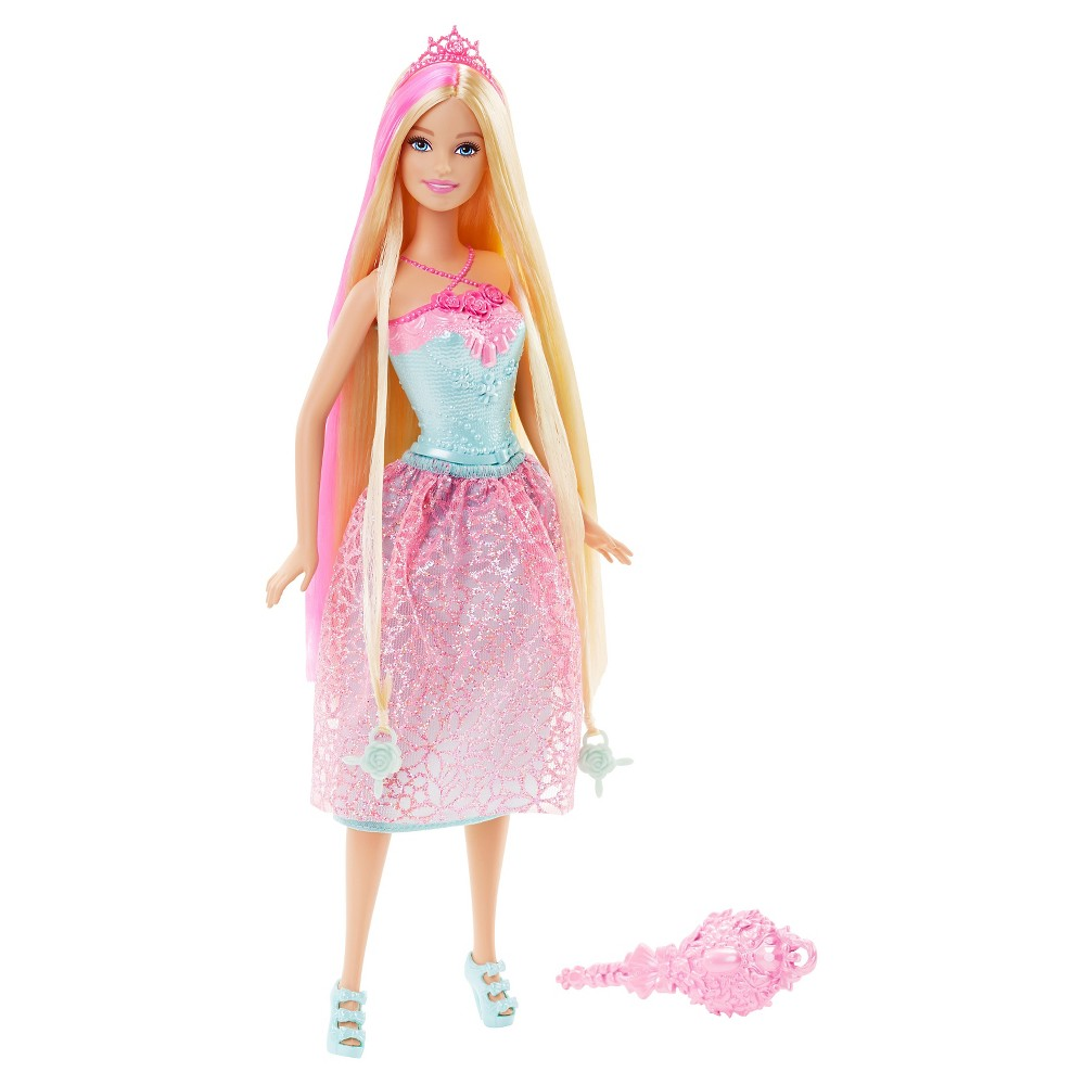 Blonde barbie pink dress  Barbie Endless Hair Kingdom Princess Doll  Pink  Pink Barbie and Hair