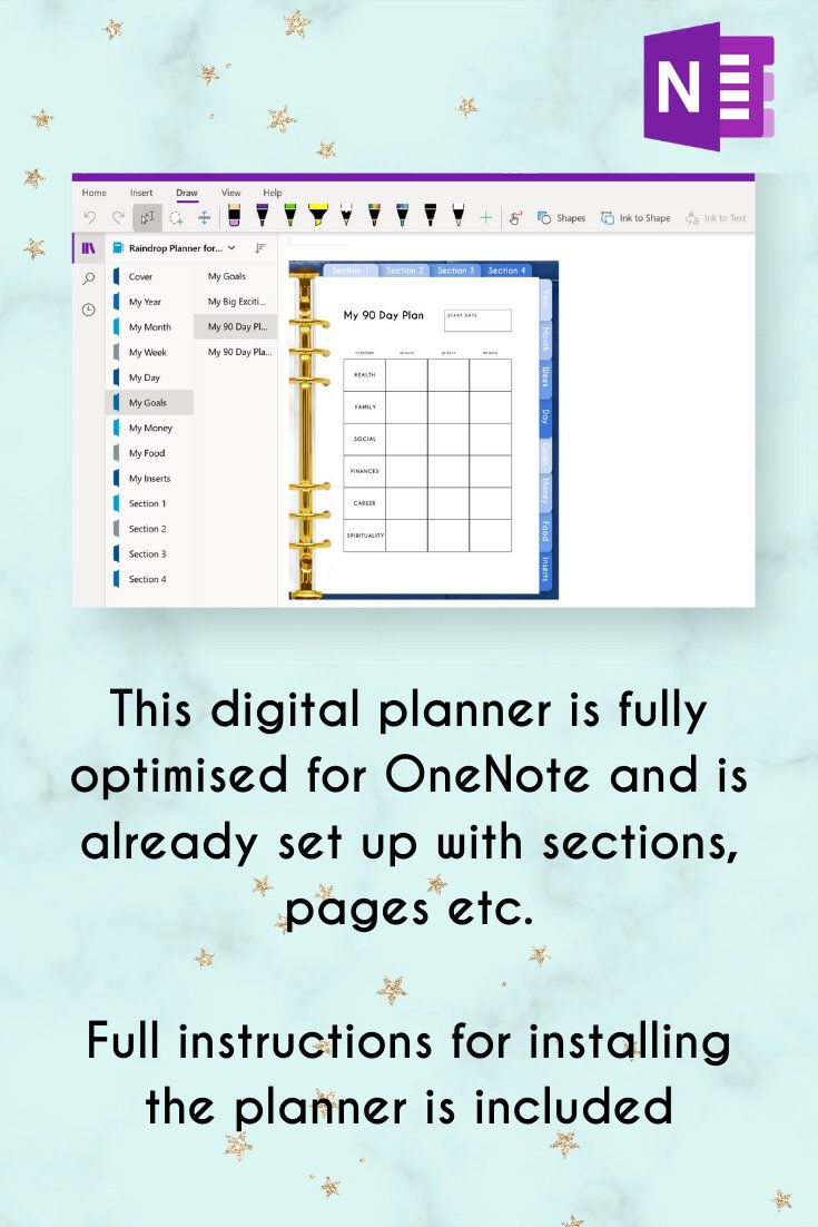 Digital Planner, OneNote Planner, Windows Planner, Surface