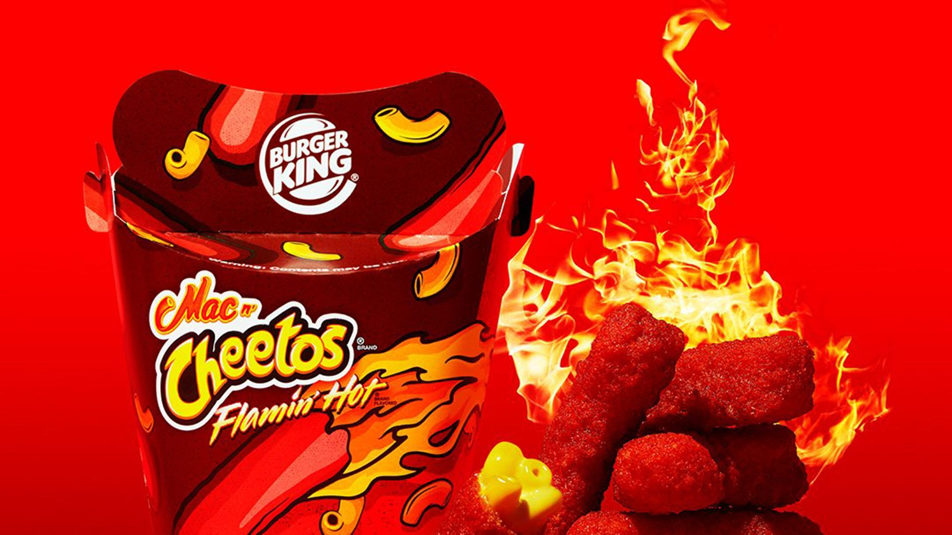 Burger King Rolls Out Bright Red Flamin Hot Mac N Cheetos Mac N Cheetos Burger King Cheetos