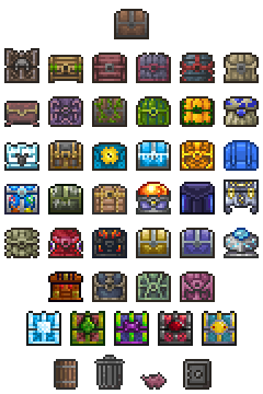 Storage Items Official Terraria Wiki Pixel Art Design Pixel