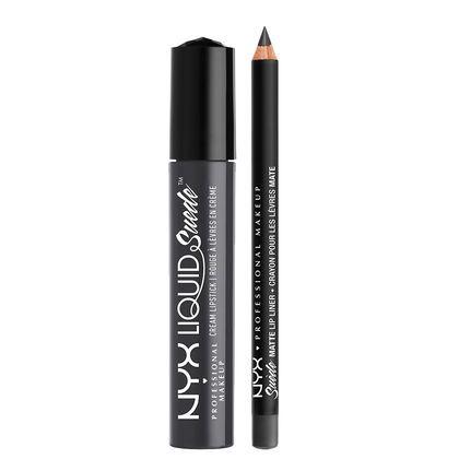 NYX Cosmetics Liquid Suede Lippie Duo - Stone Fox