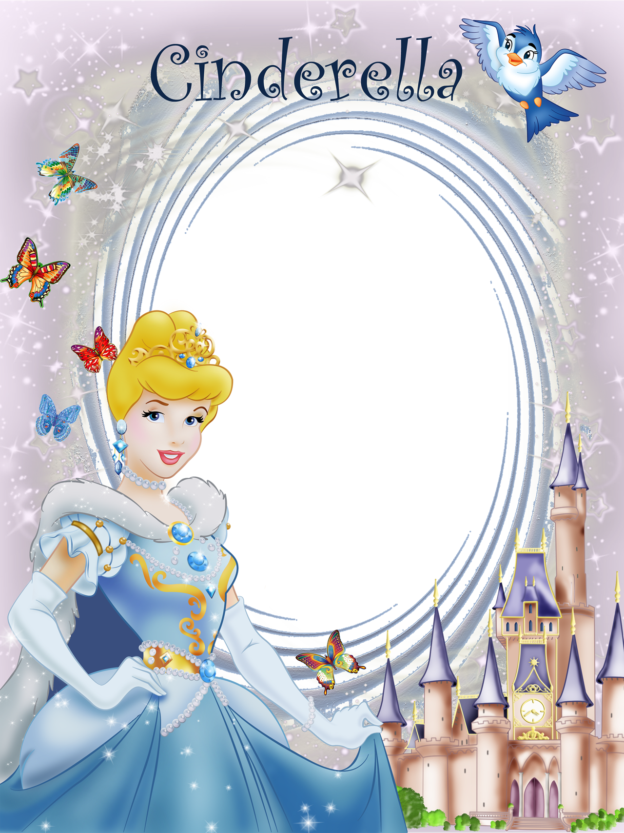 Transparent Frame Princess Cinderella | Borders and frames ...