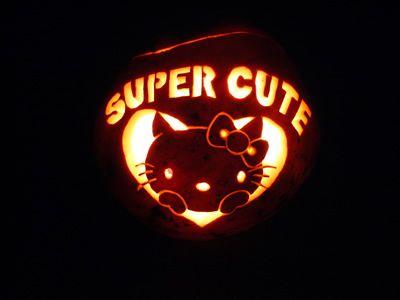 Hello Kitty Super Cute Carved Jack O\u0027Lantern Pumpkin  Click the - hello kitty halloween decorations