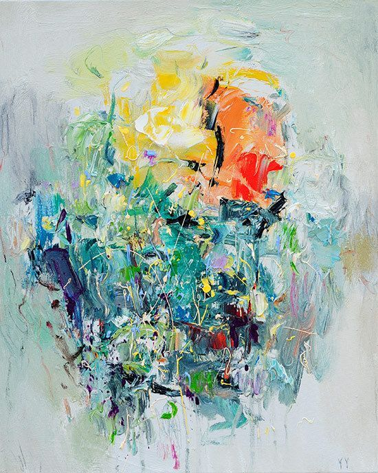Abstract painting fine art print giclee spring print 12x12