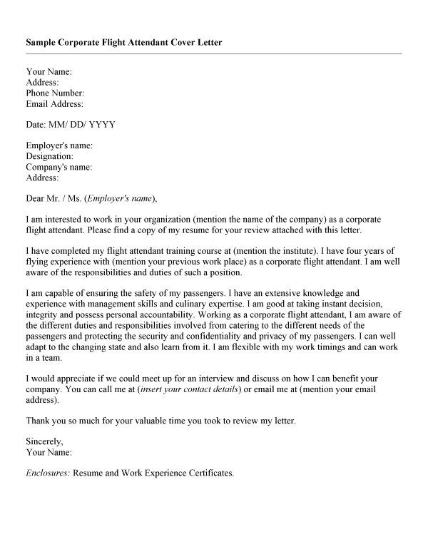 American Eagle Flight Attendant Cover Letter dedktop Pinterest - sample flight attendant resume